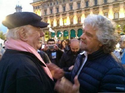 Beppe Grillo e Dario Fò