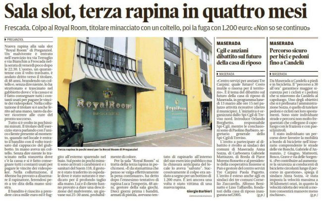 azzardopatia gioco d'azzardo tribuna di treviso 05/03/2017
