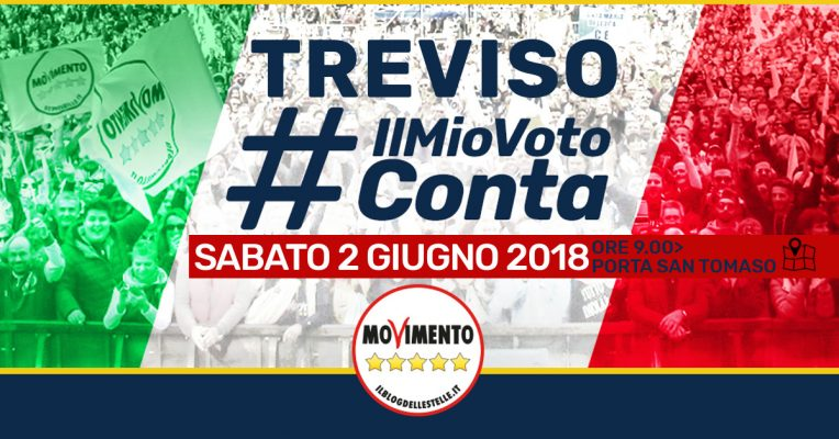 2 giugno 2018 #IlMioVotoConta Treviso
