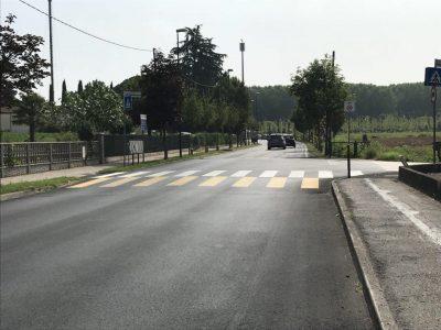 treviso canizzano sicurezza stradale nuovi dissuasori giugno 2018