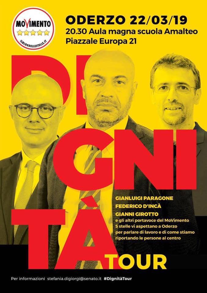 Dignità Tour M5S 22/03/2019 Oderzo (TV)