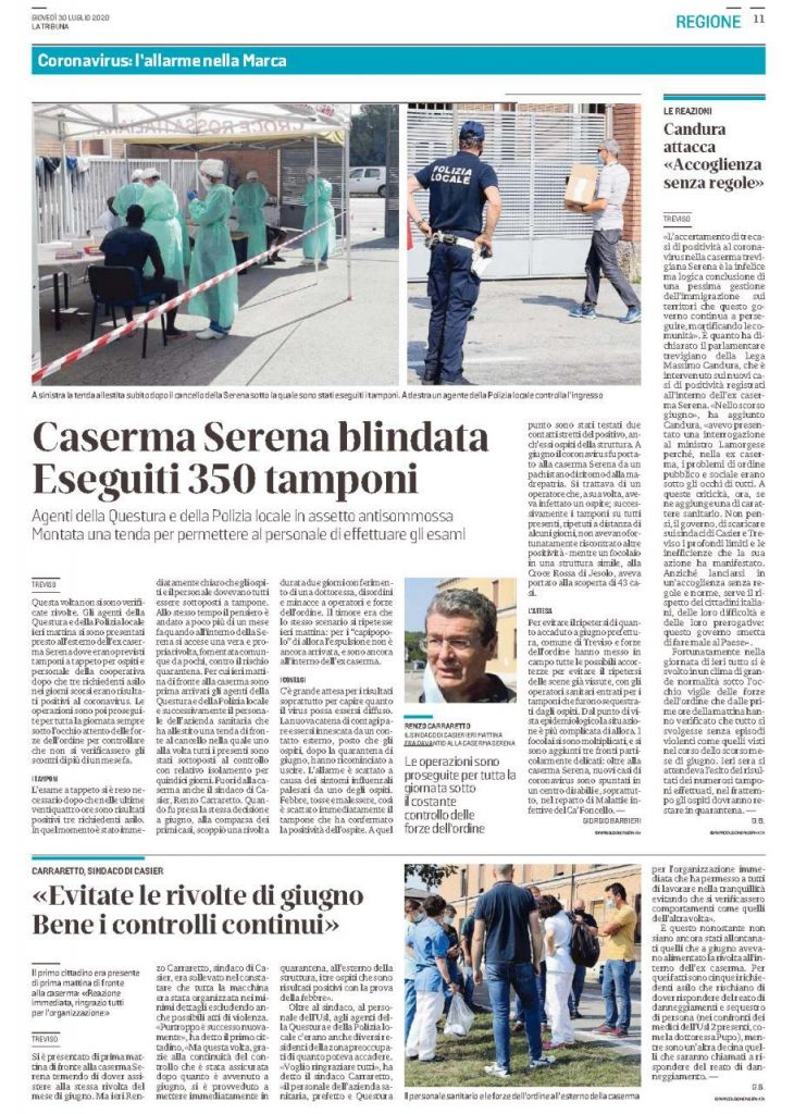 treviso caserma serena - accoglienza migranti