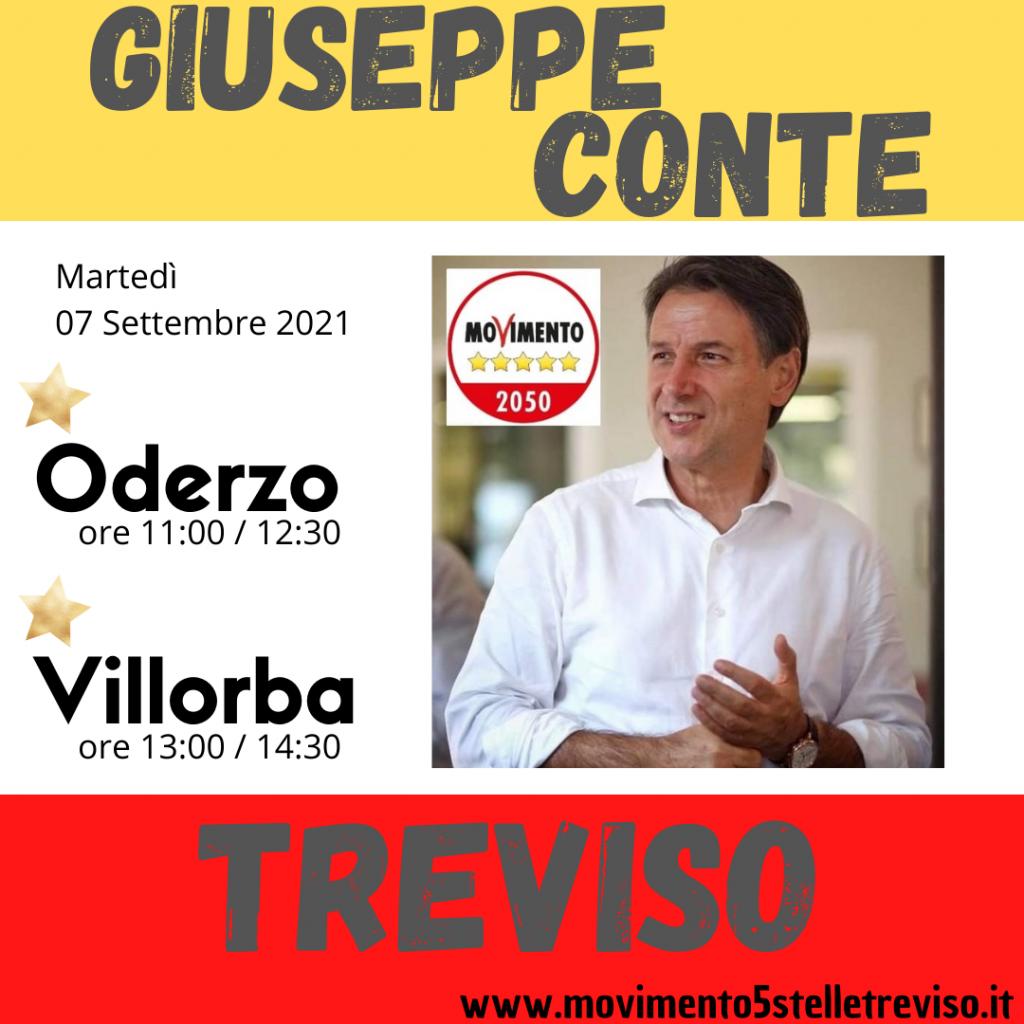 Giuseppe Conte Treviso Settembre 2021